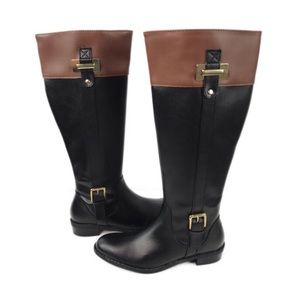 New Karen Scott Delie Black and Brown Riding Boots